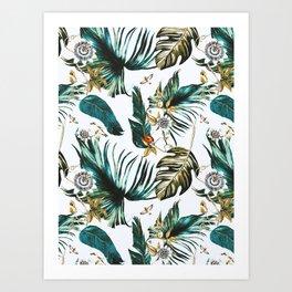 Exotic watercolor nature Art Print
