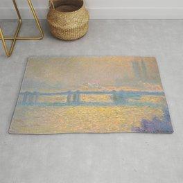 "Claude Monet ""Charing Cross Bridge"" (1900) Rug"