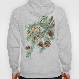 pine cones watercolor Hoody