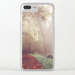 LOST IN THE PATH Clear iPhone Case