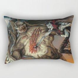 Nosferatu vs. Zombie Lord by BAXA Rectangular Pillow