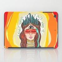 third eye iPad Cases featuring third eye by ivette mancilla