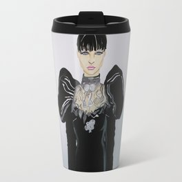 HENRIETTA IN GIAMBATTISTA VALLI HAUTE COUTURE (WHITE BACKGROUND)BY ARTIST JAMES THOMAS RYAN Travel Mug