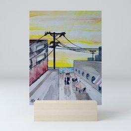 Seaside Cafe Mini Art Print