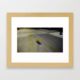 shoop shoop  Framed Art Print