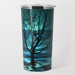 Tree in Ocean Travel Mug