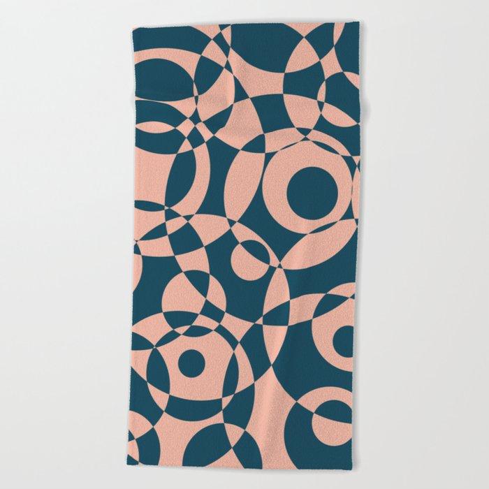Abstract circles Beach Towel