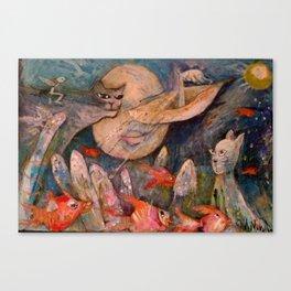 GATO LUNA Canvas Print
