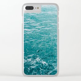 Amalfi Coast Water XII Clear iPhone Case