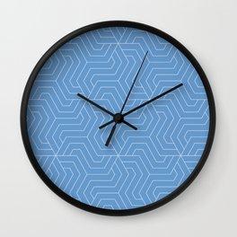 Livid - turquoise - Modern Vector Seamless Pattern Wall Clock