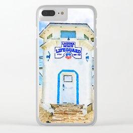 Laguna Beach Lifeguard Stand Clear iPhone Case