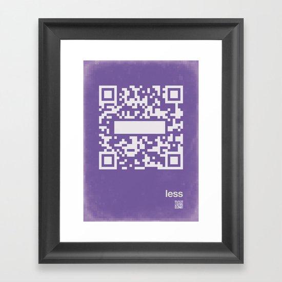 QR less Framed Art Print