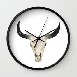 Desert Cow Skull Wall Clock