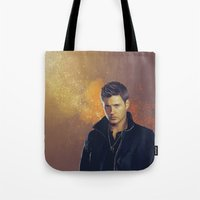 dean winchester Tote Bags featuring Dean Winchester - Supernatural by KanaHyde