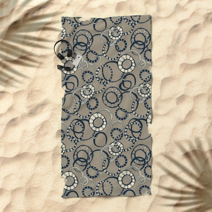 Honolulu hoopla light brown Beach Towel