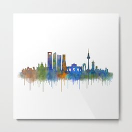 Madrid City Skyline HQ v4 Metal Print