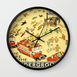 Vintage poster - London Underground Wall Clock