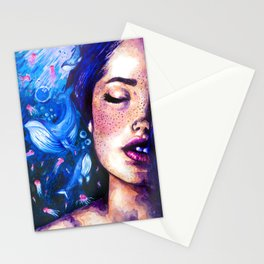 Music of the ocean Stationery Cards