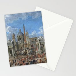 Giovanni Paolo Panini - Piazza Navona in Rome Stationery Cards