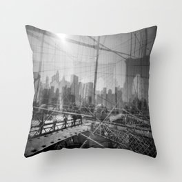 Brooklyn Bridge 3x Throw Pillow