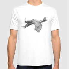 In which it's a bird. It's a plane. White Mens Fitted Tee LARGE