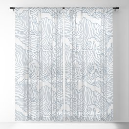 Japanese Wave Sheer Curtain