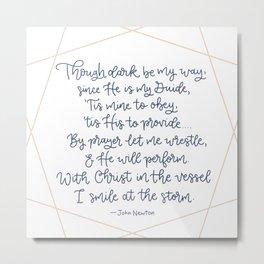 John Newton poem Metal Print