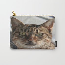 Beautiful Eyed Tabby Cat  Carry-All Pouch