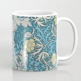 William Morris,art nouveau pattern, seaweed,blue,florals,vintage Coffee Mug
