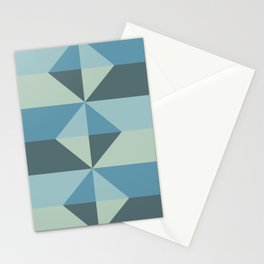 Cast Light in Blue and Green Stationery Cards