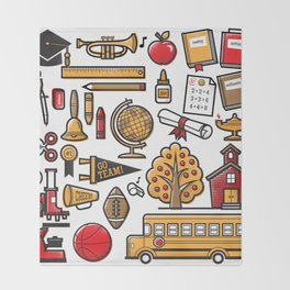 School Days Throw Blanket