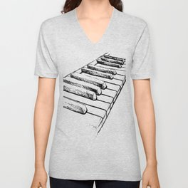 Sketching Pianos Doesn't Make You Better At Piano Unisex V-Neck