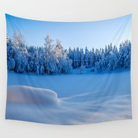 swedish Wall Tapestries featuring Swedish Winter by Mark W