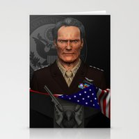 clint eastwood Stationery Cards featuring Clint Eastwood by Aravindan