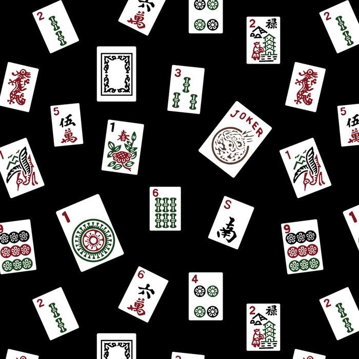 Black Mahjong Leggings