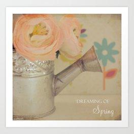 {Dreaming of Spring} Art Print