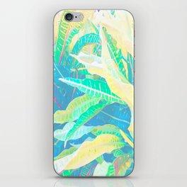 Tropical Croton Leaves 3 iPhone Skin