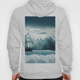 Blue Ocean Ship Storm Clouds Hoody