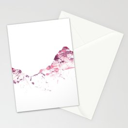 Mount Mythen mountainsplash pink Stationery Cards