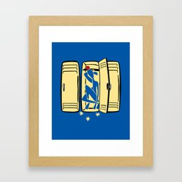 Blue (is shoved in a locker) Framed Art Print