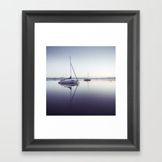peaceful moment at the lake Framed Art Print