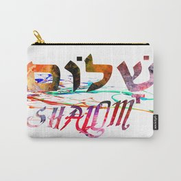 Shalom Hebrew Word Carry-All Pouch