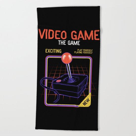 Video Game Beach Towel