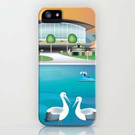 Adelaide, Australia - Skyline Illustration by Loose Petals iPhone Case