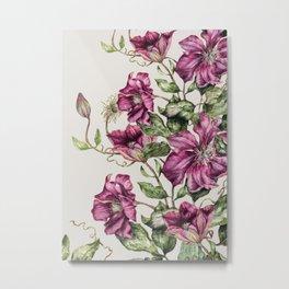 Purple Flowers 3 Metal Print