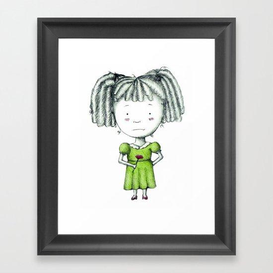 Bored Betty Framed Art Print