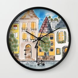 Seville, Spain Street Scene Wall Clock