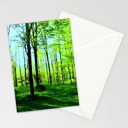 Sky Blue Morning Forest Stationery Cards