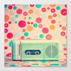 Radio Dots  Canvas Print