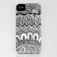 Black and White Doodle iPhone (4, 4s) Slim Case